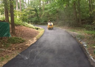 asphalt driveway roller