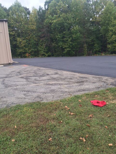 completed commerical parking lot